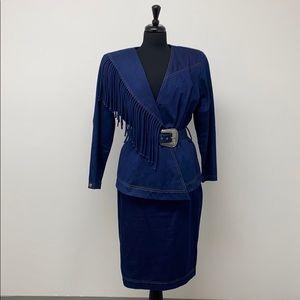 Vintage Barbara Barbara Stretch Denim Suit